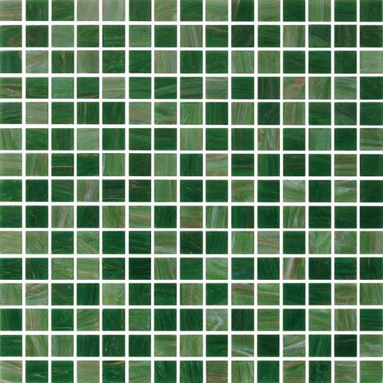 dark green glass mosaic tiles for