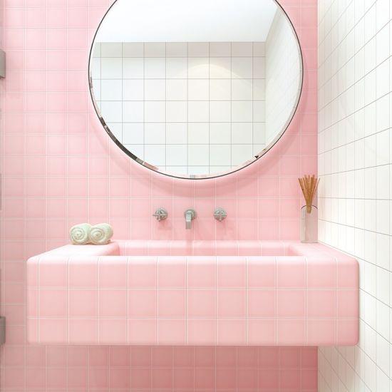 4x4 inch 10x10cm pink ceramic tile