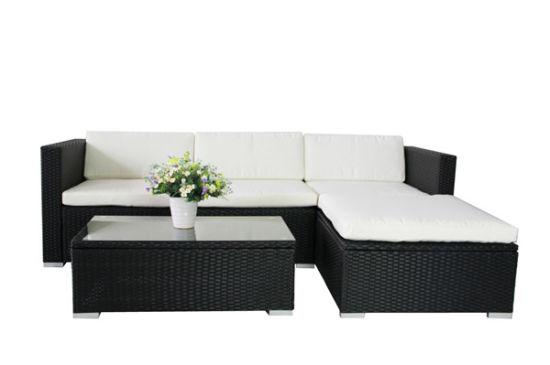 china black outdoor rattan sofa set