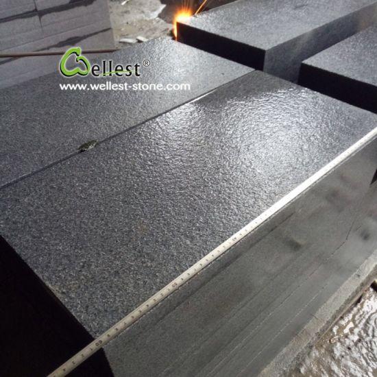 g654 sesame black granite floor tile