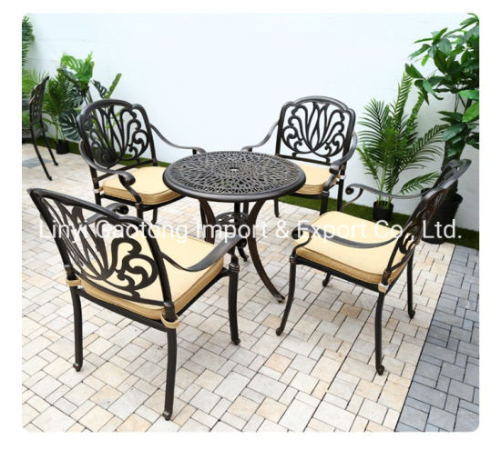 7 piece metal patio conversation dining