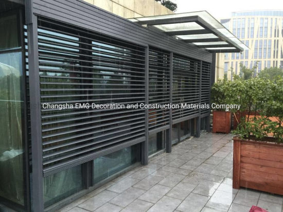 motorized aluminum pvc awning porch retractable louvers roof for outdoor