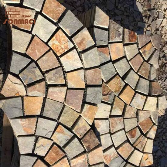china irregular slate patio stones