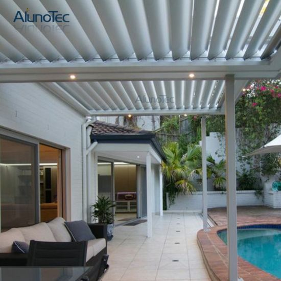 louvered roof patio system