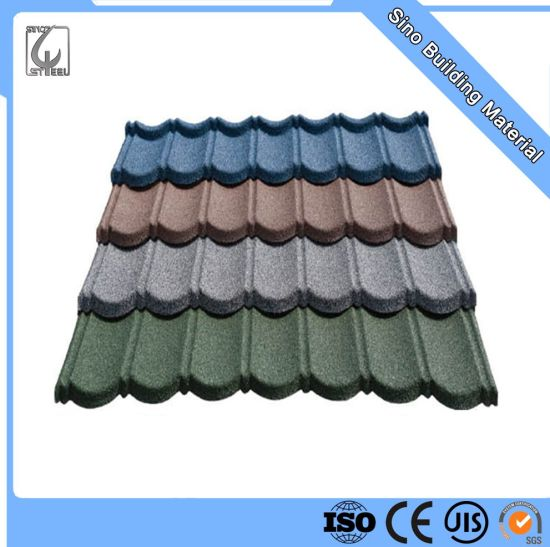 china stone coated steel roofing tile