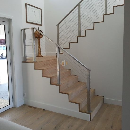 Stainless Steel Stairs Rails Stainless Steel Cable Balustrade | Stainless Steel For Stairs | Contemporary | Modern | Outdoor | Home | Balustrade