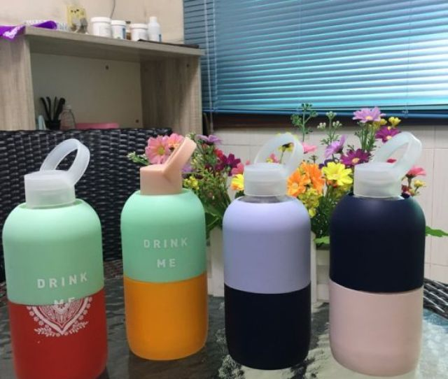 Wholesale Bpa Free Glass Water Bottle With Silicone Sleeve
