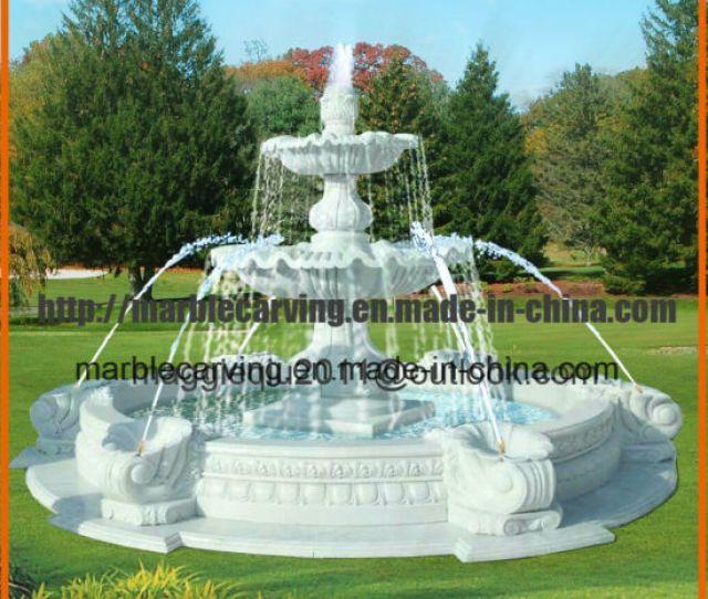 Tier Stone Water Fountains Outdoor For Garden Decor Mf