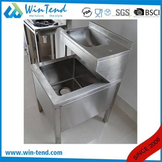 newly design stainless steel double mop sink with faucet