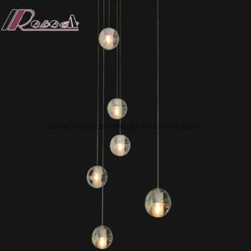 China Solid Bubble Glass Balls Ceiling Light for Hotel Project     Solid Bubble Glass Balls Ceiling Light for Hotel Project