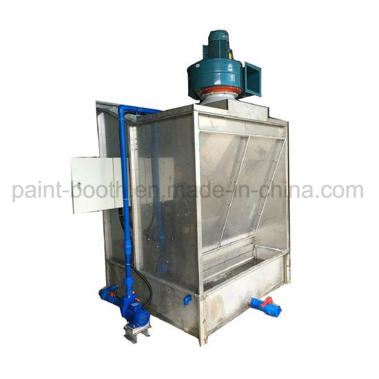 infitech cross draft open face industrial furniture water curtain water filter spray paint booth