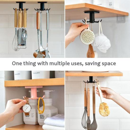 under shelf rotate hook holder hang