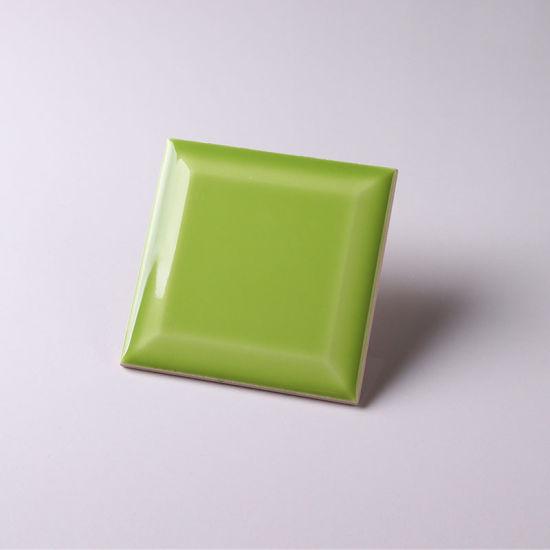 100 x 100mm decorative quality ceramic apple green subway tile
