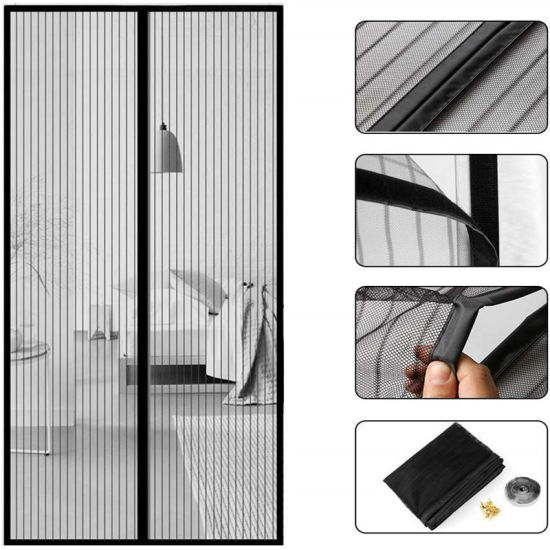 anti mosquito curtain door magnetic screen door