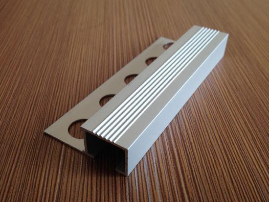 aluminum tile in step edge stair nosing