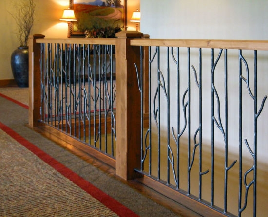 China Hot Sale Classic Design Wrought Iron Railing Fence China | Wood And Rod Iron Railing | Wooden | Dark Stained | Wrought Iron | Pipe | Simple Modern