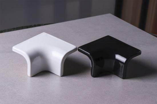white black ceramic tile trim corner