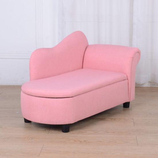 storage fabric plush chaise lounge kids