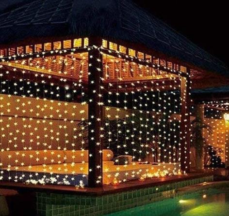 china 300 led fairy tale lamp curtain