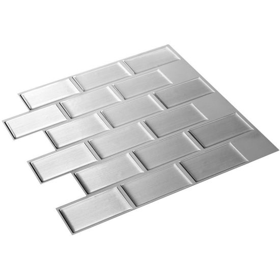 hot item kitchen backsplashe self adhesive tile sheet peel stick tiles vinyl 3d wall sticker epoxy resin wallpaper