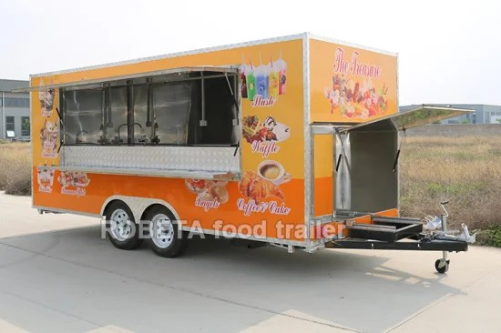 buy mobile fast food truck trailer ice