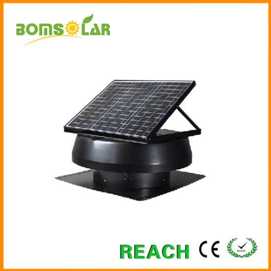 china 50w solar roof vent attic fan