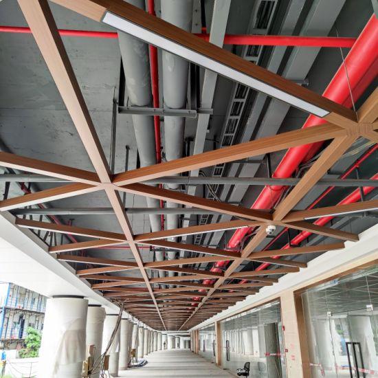 custom color metal baffle ceiling tiles with unique design