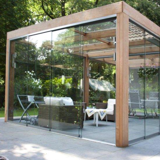 custom exterior commercial aluminum frameless glass stacking sliding doors