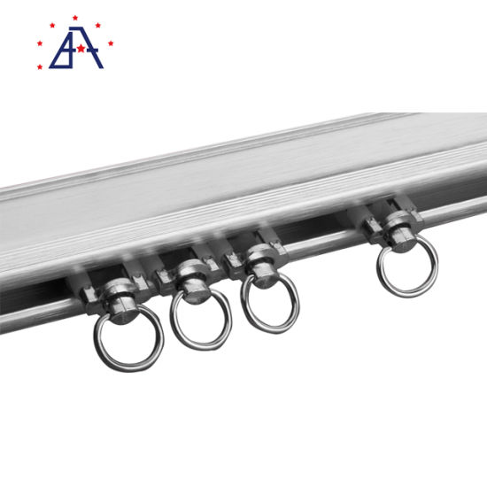 brushed oval shower curtain aluminum rod from guangdong factory