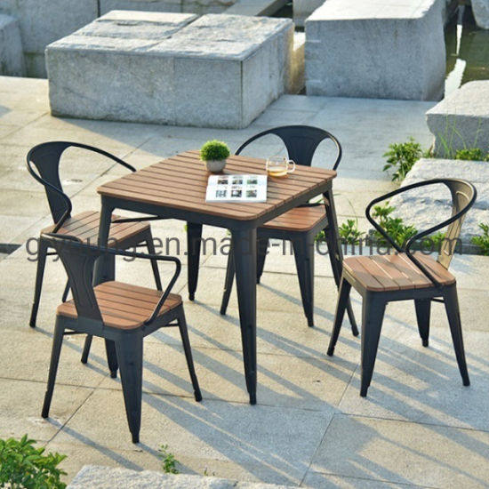and chairs plastic wood outdoor table
