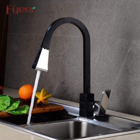 square body black kitchen sink faucet