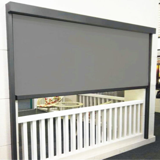 china wholesale electric patio blinds zip track outdoor roller blinds