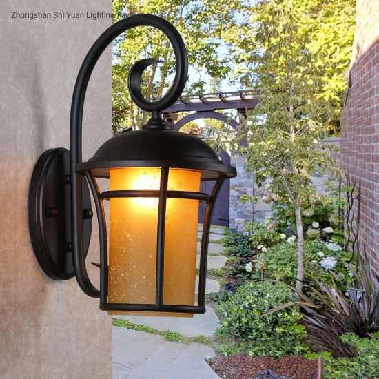 antique vintage exterior outdoor light led recessed lantern wall lamp