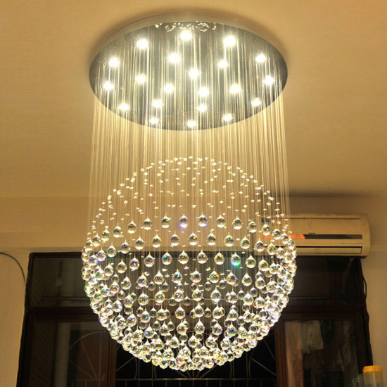 Por Single Ball Crystal Pendant Light Led Chandeliers For Living Room Decoration 6002 13