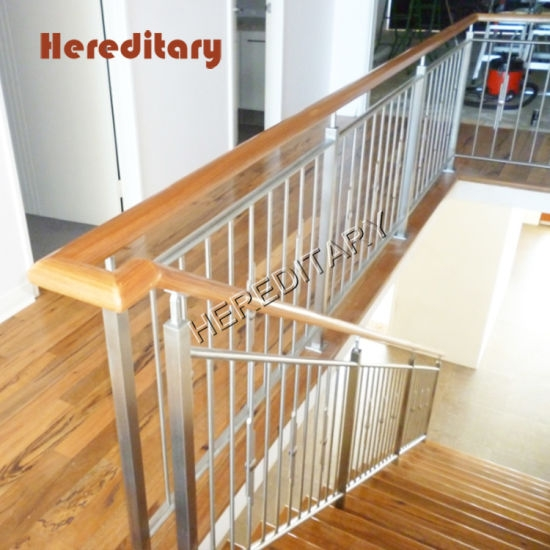 Grade 304 Stainless Steel Pipe Balustrade For Balcony Railing | Wooden Stair Railing Prices | Staircase Ideas | Deck Railing | Frameless Glass | Steel | Glass Stair