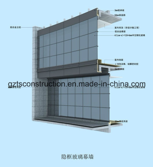 Glazed Aluminum Curtain Wall House : Frameless glass curtain wall details gopelling