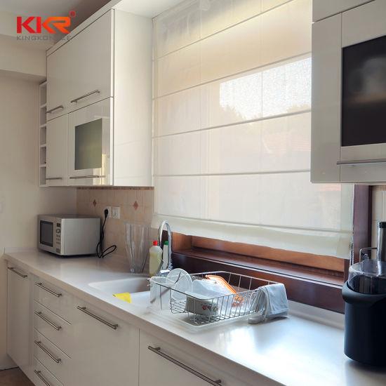 cut to size quartz stone kitchen countertops with kitchen sink