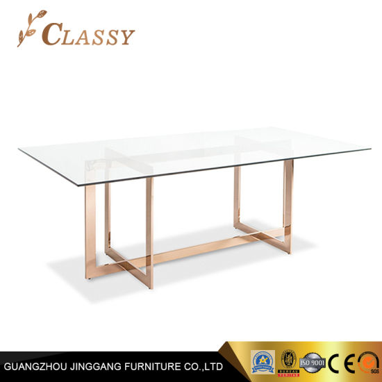 china rose gold finish dining table