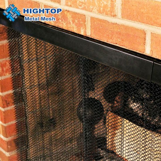 48x24 inch chain link curtain screen mesh panels for fireplace