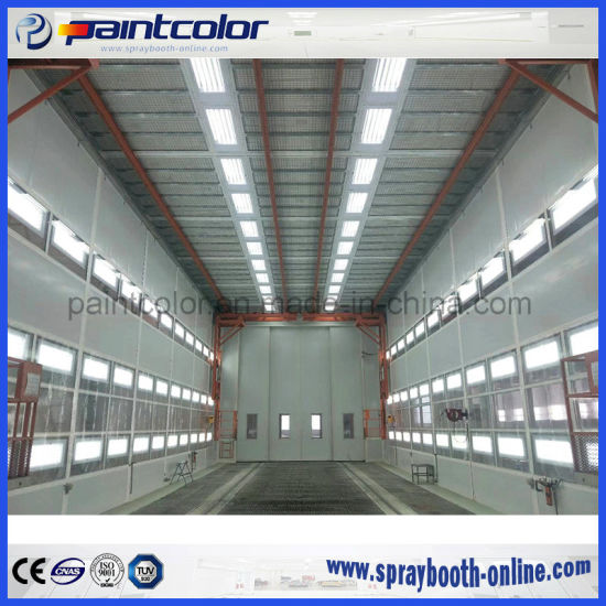 large baking chamber room for big and heavy vehicles spray booth oven with gas burners