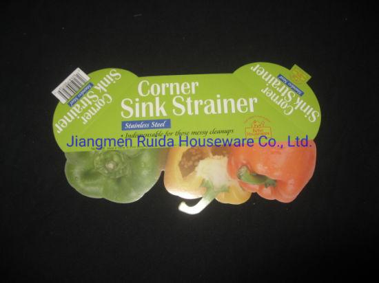 stainless steel corner sink strainer