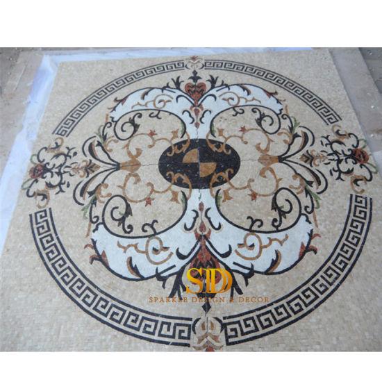 marble mosaic pattern floor tile