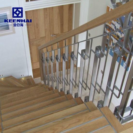 China Interior Design Tubular Stainless Steel Handrail Stairs   Tubular Design For Stairs   Finished   Minimalist   Decorative Wood Railing   Contemporary   Home Tower