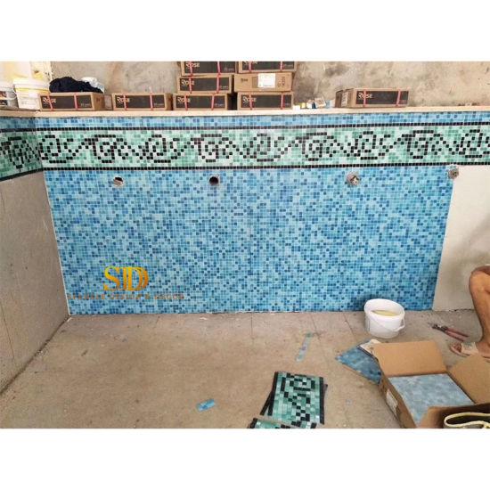 indoor swimming pool mosaic tile ideas