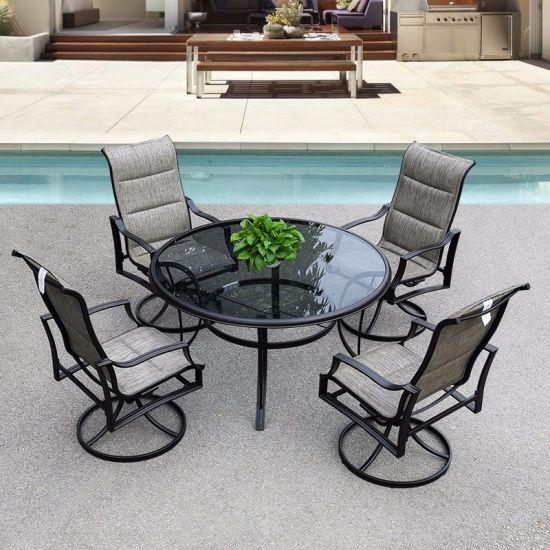 china patio outdoor aluminum textilene