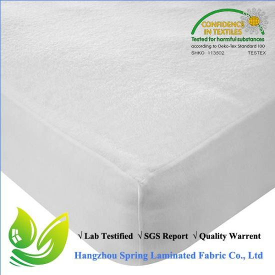 Skirted White Anti Bed Bug Terry Towel Washable Mattress Protector