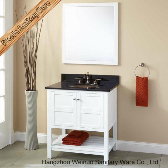 china beautiful solid wood single sink