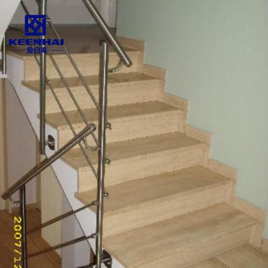China Modern Design Indoor Stair Railing 304 Stainless Steel | Indoor Stair Railings Modern | Contemporary | Farmhouse | Rail | Glass | Aircraft Cable