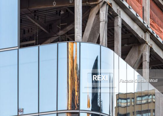 aluminium glass building facade system