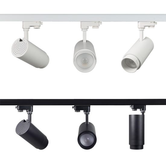 contemporary pendant kitchen 30w 40w spot lighting fixture cob square led track light